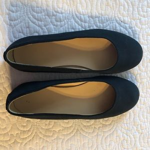 Lands End Navy Flats